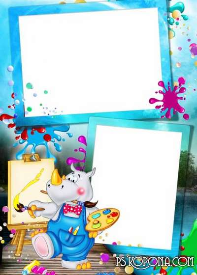 Child`s photo frame free download – Draw me