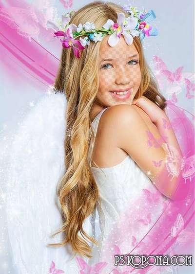 Child`s template for photo of the montage - My angel