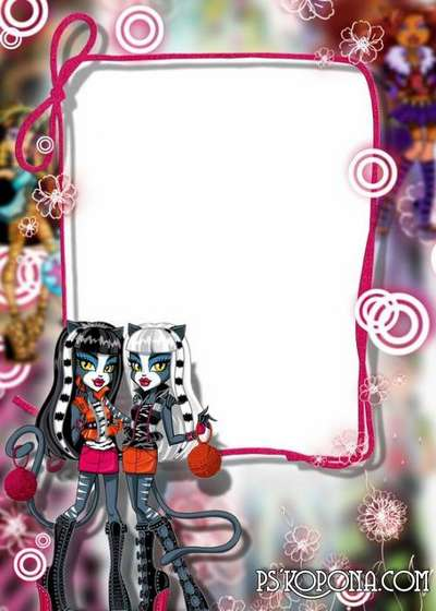 Child`s photo frame – Monster High dolls