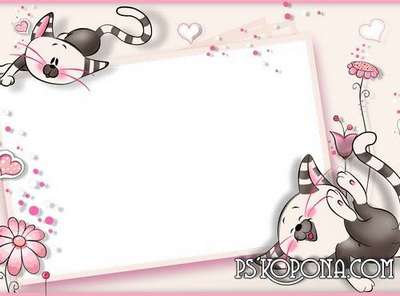 Child`s photo frame free download – Pink childhood
