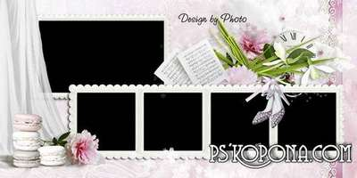 Wedding set: Photobook template psd and cover DVD - Together forever