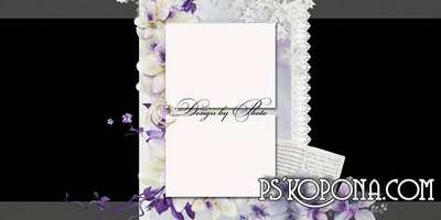 Wedding set: Photobook template psd and cover of the DVD - Our happiness