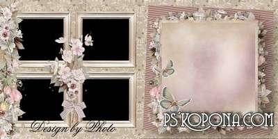 Romantic photobook template psd - Love is beautiful