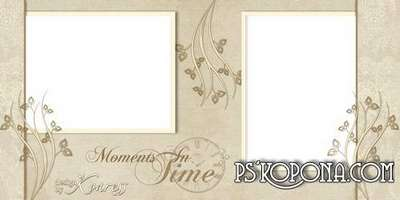Template of romantic photobook in beige colors - Moments of tenderness