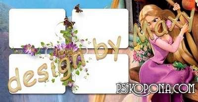 Templates baby photo book template psd - Rapunzel