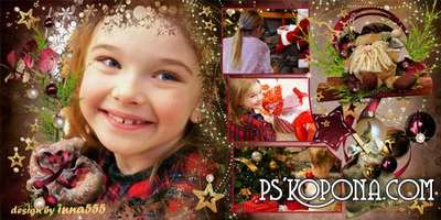 New Year photo book template psd - Christmas Joy