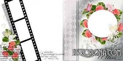 Wedding photo book template-Happy in love!