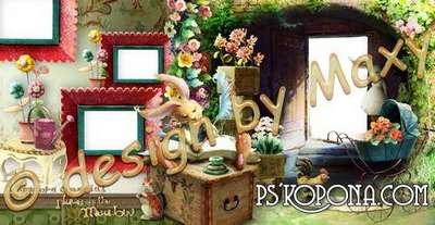 Photo frames - photobook template psd - My little flowers