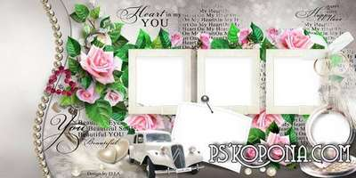 Wedding Photobook template-You are my heart