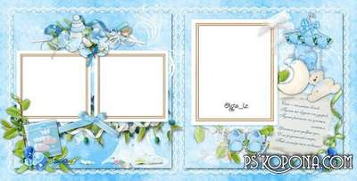 Template album for a boy - Christening son » Photo album template ...