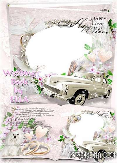 Wedding Photobook template-Our Spring