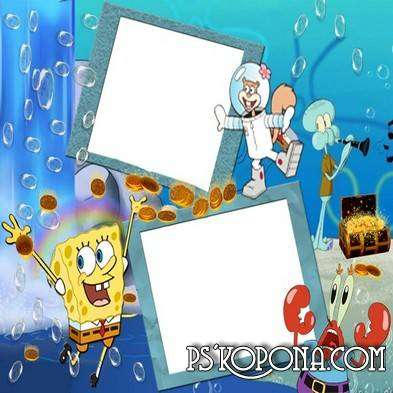 Photo frame for photo - The underwater world of SpongeBob