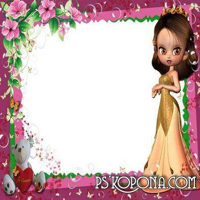Photo frame for girls - Childhood great time