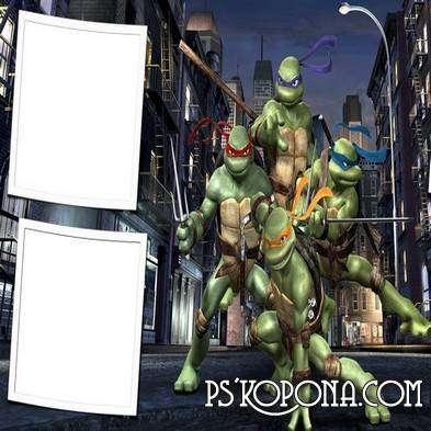 Frame for children - The adventures of teenage mutant ninja Turtles