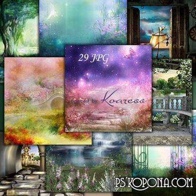 Fabulous JPG backgrounds for design - children's backgrounds
