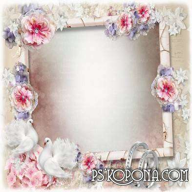 Women's Frame for Photoshop - A loving heart shrinks