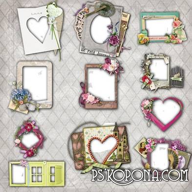Vintage Floral and Scrap-outs for picture frames