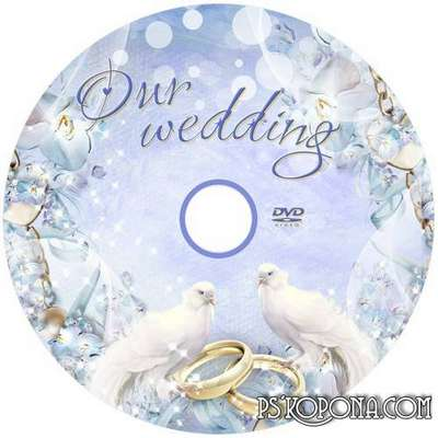 Free Wedding PSD Frame and Wedding dvd cover disc