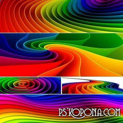 Three-dimensional abstract colored backgrounds (HQ)