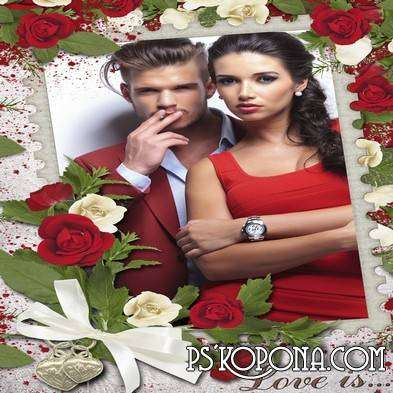Romantic frame - Beautiful love