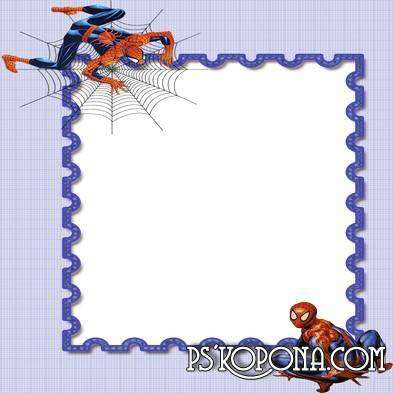 Frame for Photoshop- Spiderman