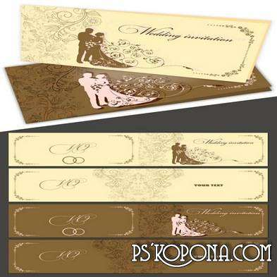 PSD Wedding invitation - This moment 3