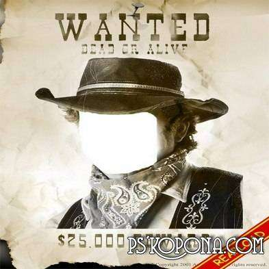 Wanted Dead or Alive PSD
