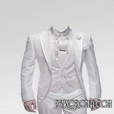 Template for Photoshop - In white suit