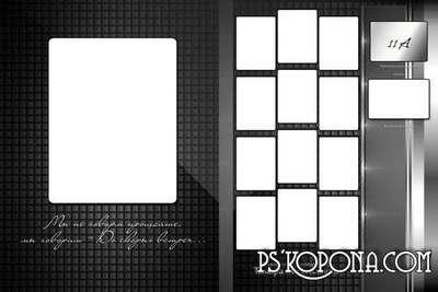 Photobook template psd template for graduate-Dark style