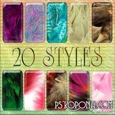 Free 20 Styles For Photoshop Feathers