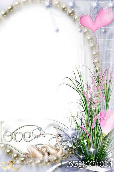 Wedding frame for Photoshop - Magic of Love. Transparent PNG Frame ...