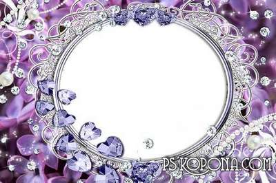 Multilayer wedding frame-Tip to you, happiness and love.