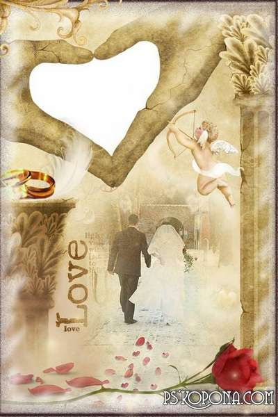 Wedding frame for Photoshop - First violin of love