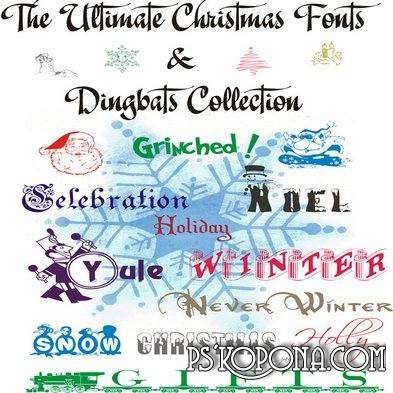 Christmas and New Year Fonts