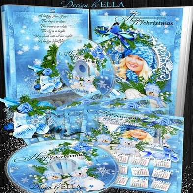 New Year's set-calendar, cover and Blowing on the DVD disc-Blue Christmas Tale