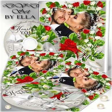 Free Wedding set-Frame, DVD cover template and Blowing on the DVD disc- Happy Together.