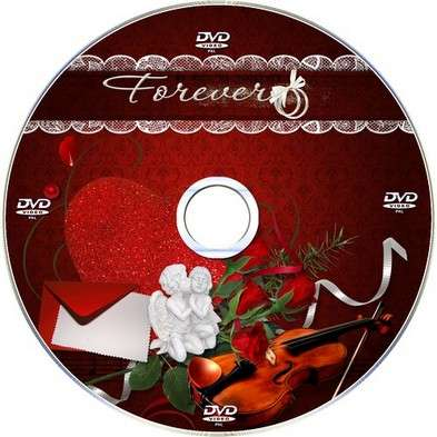 Free Luxury suite DVD cover template and blowing on the disc -The magic of love