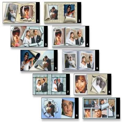 Templates for a wedding album template from SPC international Vol.3