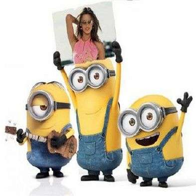 Free Kids photo frame - Cool minions photo