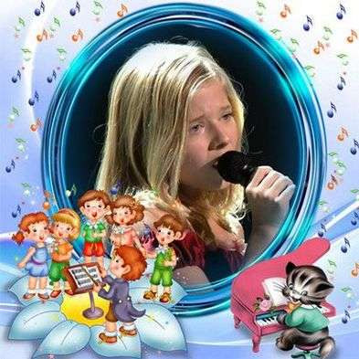 Free kids frame – happy tunes with cartoon characters