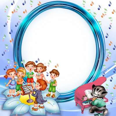 Free kids frame – happy tunes with cartoon characters. Transparent ...