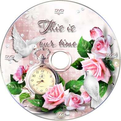 Wedding set - DVD blowing and cover on the disc - This is our time