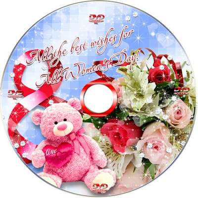 Holiday DVD set for March 8-cover, blowing on the disc and the frame-Holiday for all women