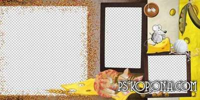 Child photobook template psd - Cheese House