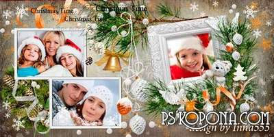 Photobook template psd - Our happy memories of winter