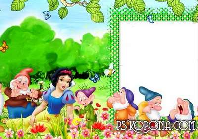 Children photo book template psd - A fascinating story of Snow White