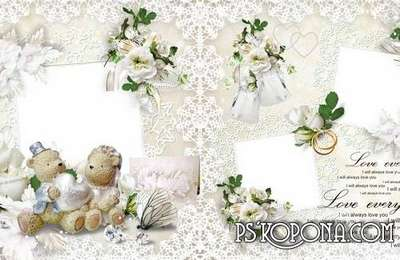 Beautiful wedding photobook template psd - Congratulations on the solemn day, Be happy together forever