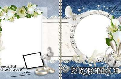 Wedding Photo book template-Happy in Love