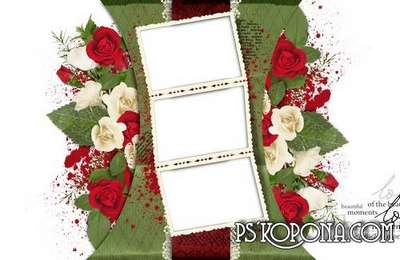 Romantic photo book template-Disband rose, flower and love confessions