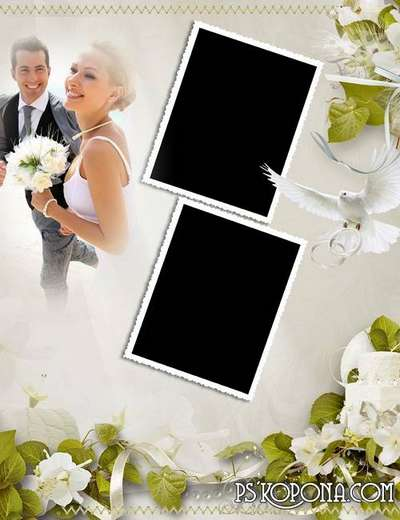 Classic wedding album template